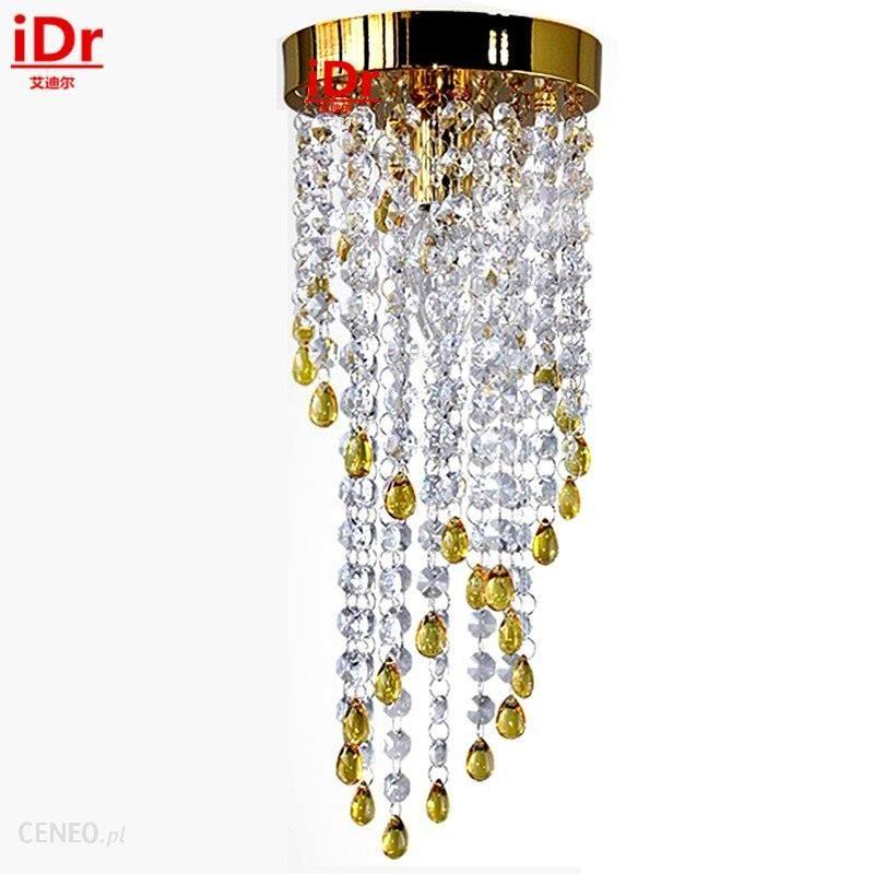 Aliexpress Moda Złota Lampa żyrandol Salon Sypialnia Nowoczesne Minimalistyczne Jadalnia świeci Kryształ Oświetlenie Led żarówki Energooszczędne
