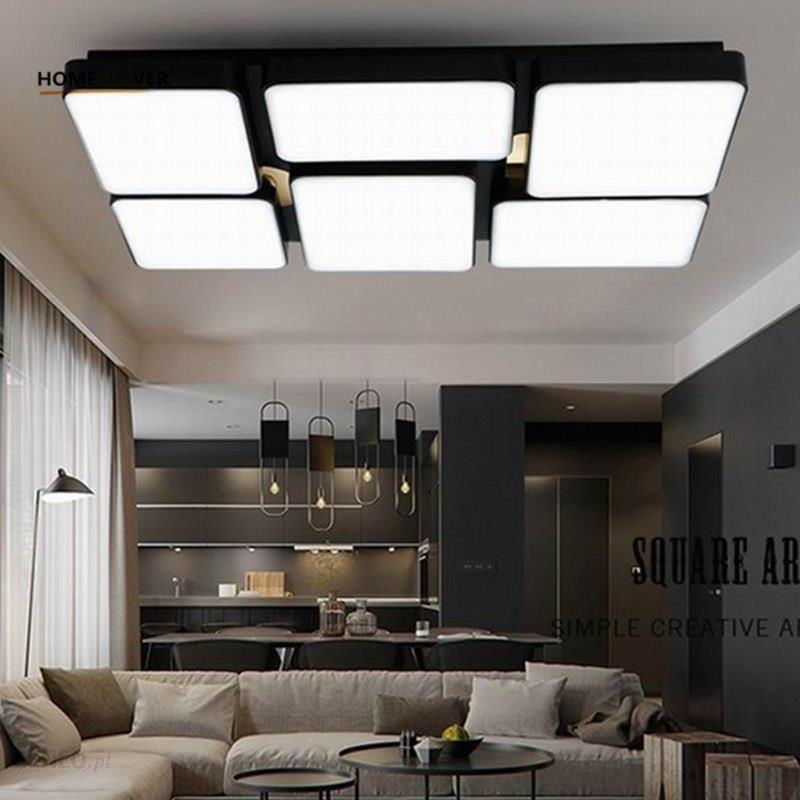 Aliexpress Nowy Projekt Oświetlenie Sufitowe Led Do Salonu Jadalnia Sypialnia Kostium Doprowadziły Lamparas De Techo Połysku światła Led Dla Domu Oświ