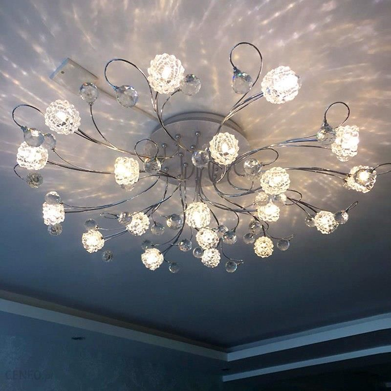 Aliexpress Led Sypialnia światła Lampy Sufitowe Nowoczesne Minimalistyczne Okrągłe Europejski Styl Pokój Dzienny Kryształ Pilot Oświetlenia Reflektoró