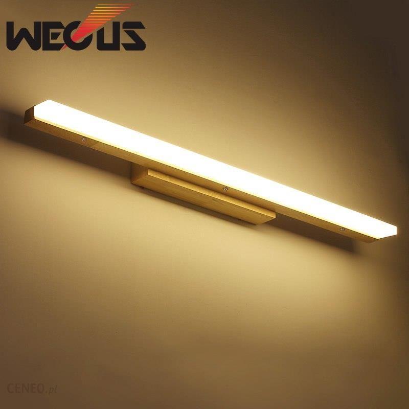 Aliexpress Japan Style Drewniane ściany światła Led źródło Anti Fog Ubikacja Lustro Lampy Salonik Dekoracji Oprawy Ceneopl