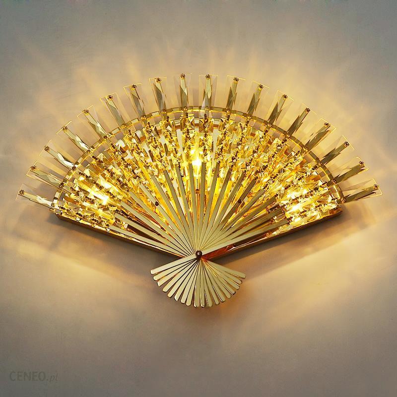 Aliexpress Funky Fan Shaped Kryształ Ze Stali Nierdzewnej Doprowadziły Lampa Led E14 Led światło Kinkiet ściany światło Kinkiet ścienny Do Bar Sklep F