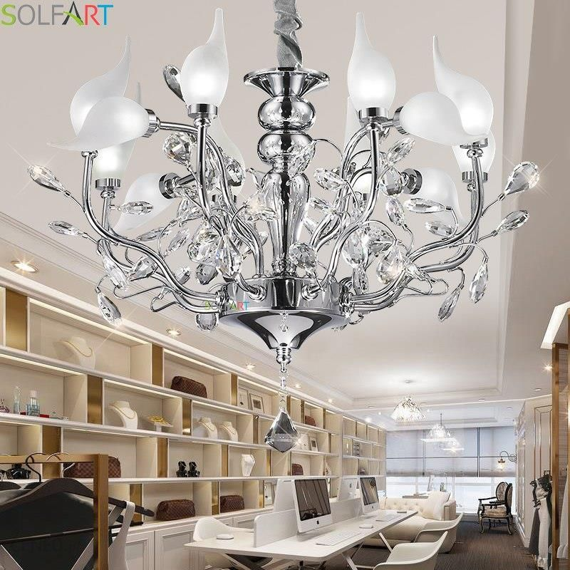 Aliexpress żyrandole Oświetlenie Lampy żeliwne Do Jadalni Lustre Moderne Sypialni Oświetlenie Kryształowy żyrandol Sufit Ceneopl