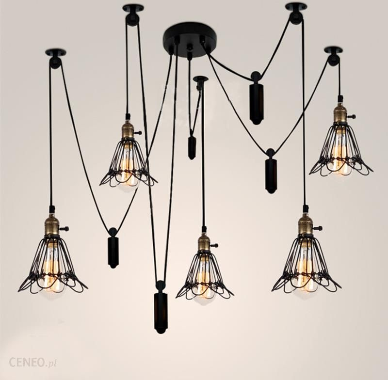 AliExpress Vintage Przemysłowe Lampy Sufitowe Edison Światła Nowoczesny Oszczędny Lampy Sufitowe Koło Pasowe Retro Równo Sufitowy Światła Żarówki Edis
