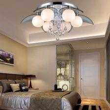 Aliexpress Nordic żelaza Szkło Kryształowe Lampy Led Led E27 Led Light Lampy Sufitowe Oświetlenie Sufitowe Led Sufit Lampa Dla Przedpokój Sypialni