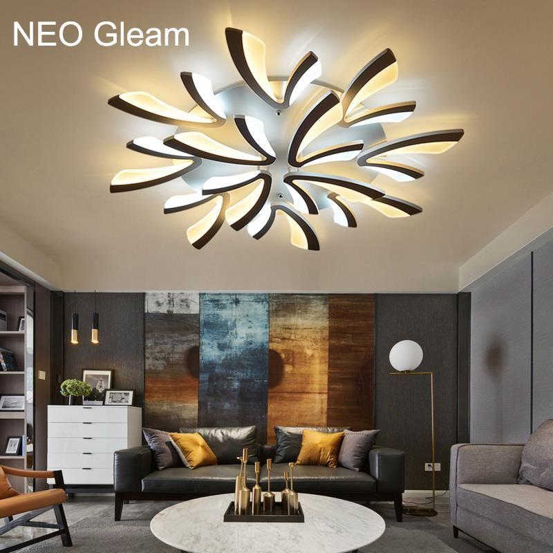 nowoczesne lampy led do salonu i jadalni