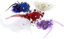 e4c0e5f3d6242f Amazon BONAMART® spinka do włosów przypięty do włosów z kwiatami klamra do włosów  Spinka do
