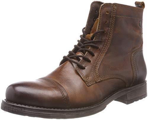 841498374237b Amazon Jack   Jones męskie jfwrussel skórzane buty cognac Pre klasyczne