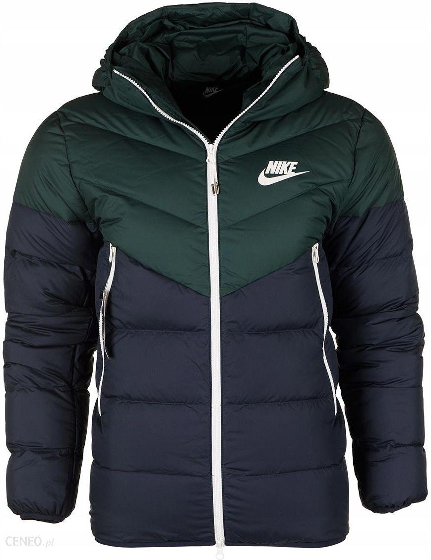 kurtka zimowa adidas męska zielono granatowa