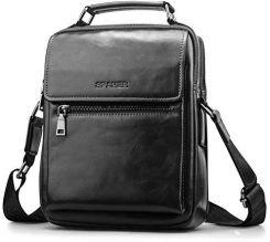 6c4138ee548f7 Amazon SPAHER skórzana torba na nadgarstek męska IPAD torebka podręczna  torba na ramię torba na ramię