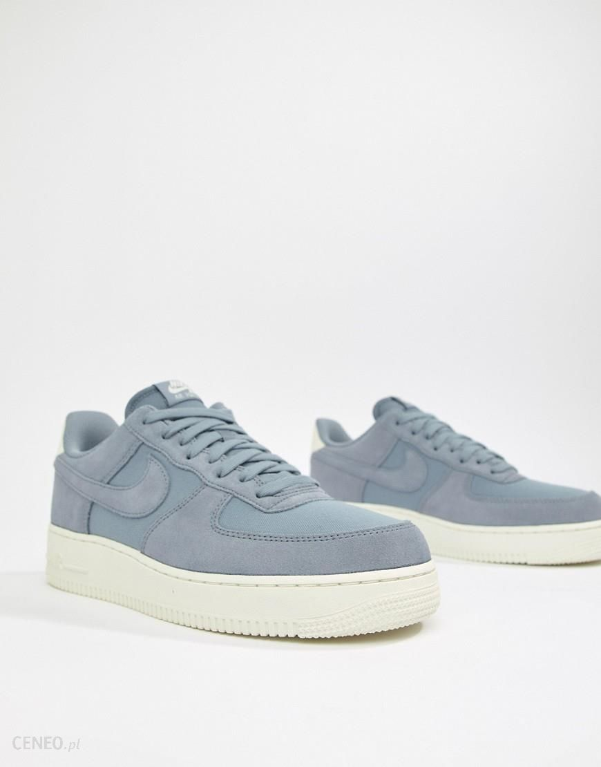 Nike Air Force 1 '07 Suede Trainers In Blue AO3835 400 Blue Ceneo.pl
