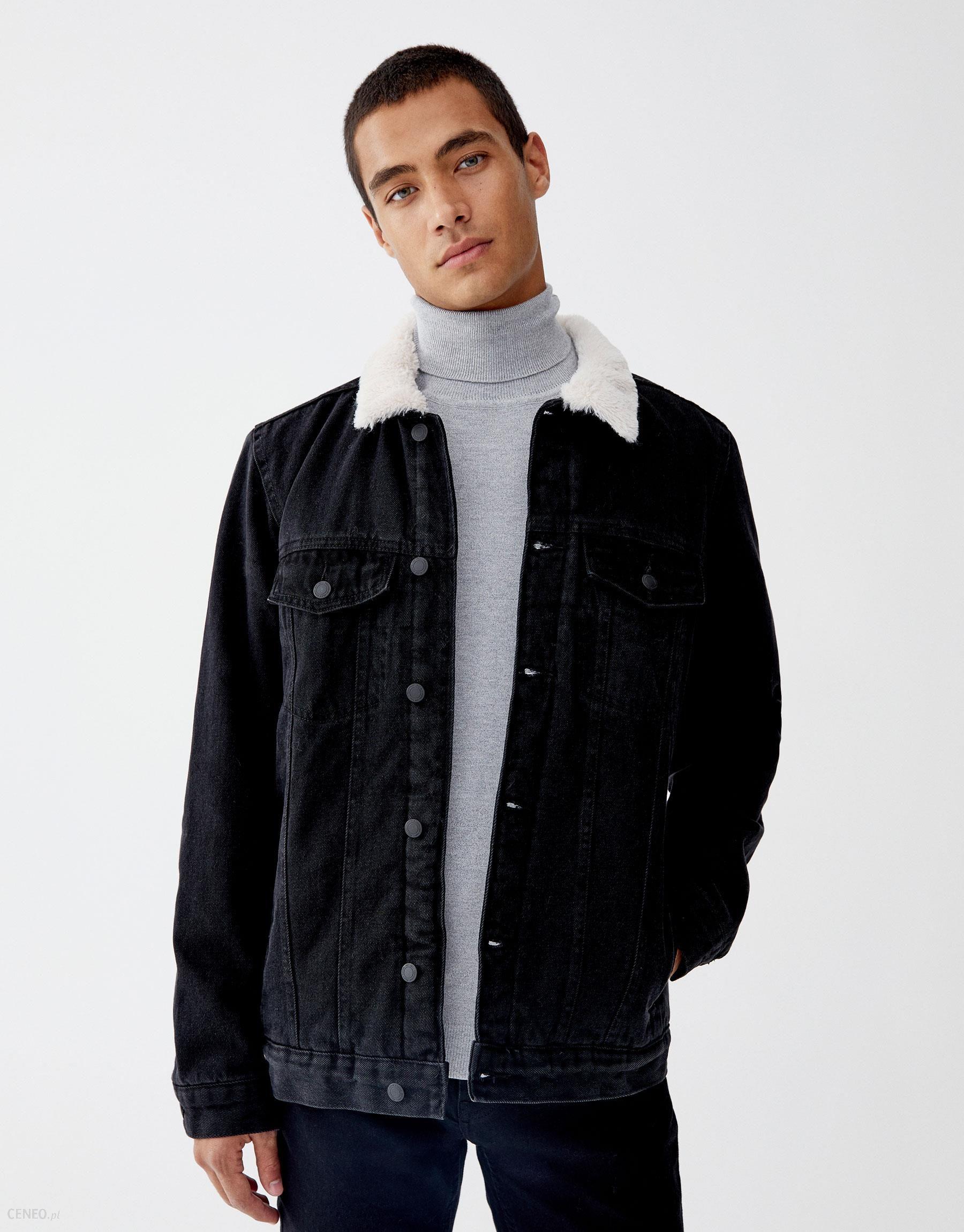 Kurtka jeansowa ze sztucznym barankiem
