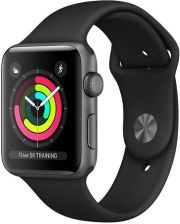 APPLE Watch Series 3 38mm Gwiezdna Szarość Czarny (MTF02MP/A)