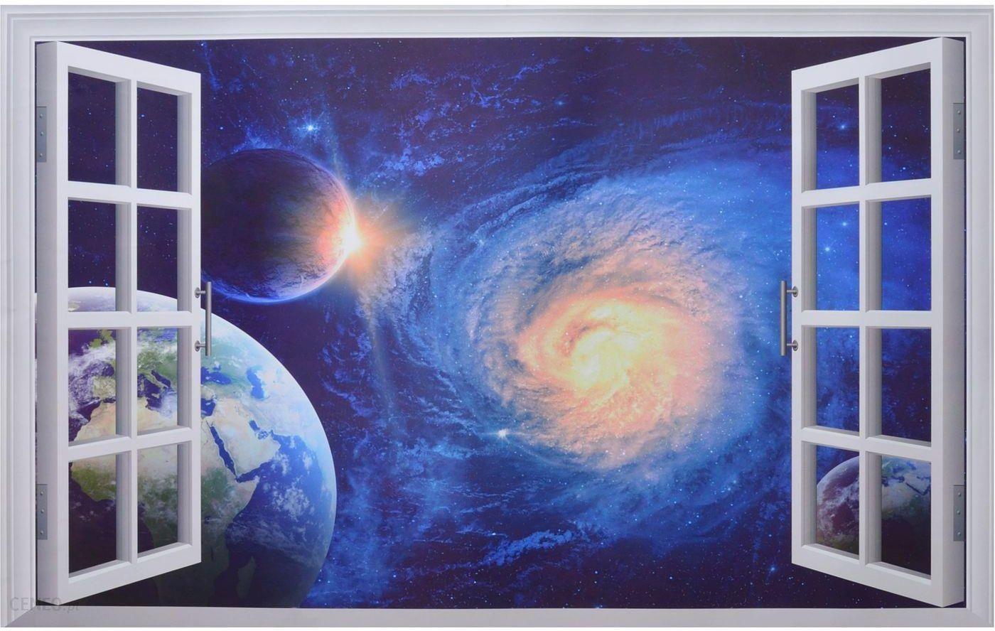 Homegadgetpl Naklejka Na ścianę Okno 3d Kosmos Ws0279