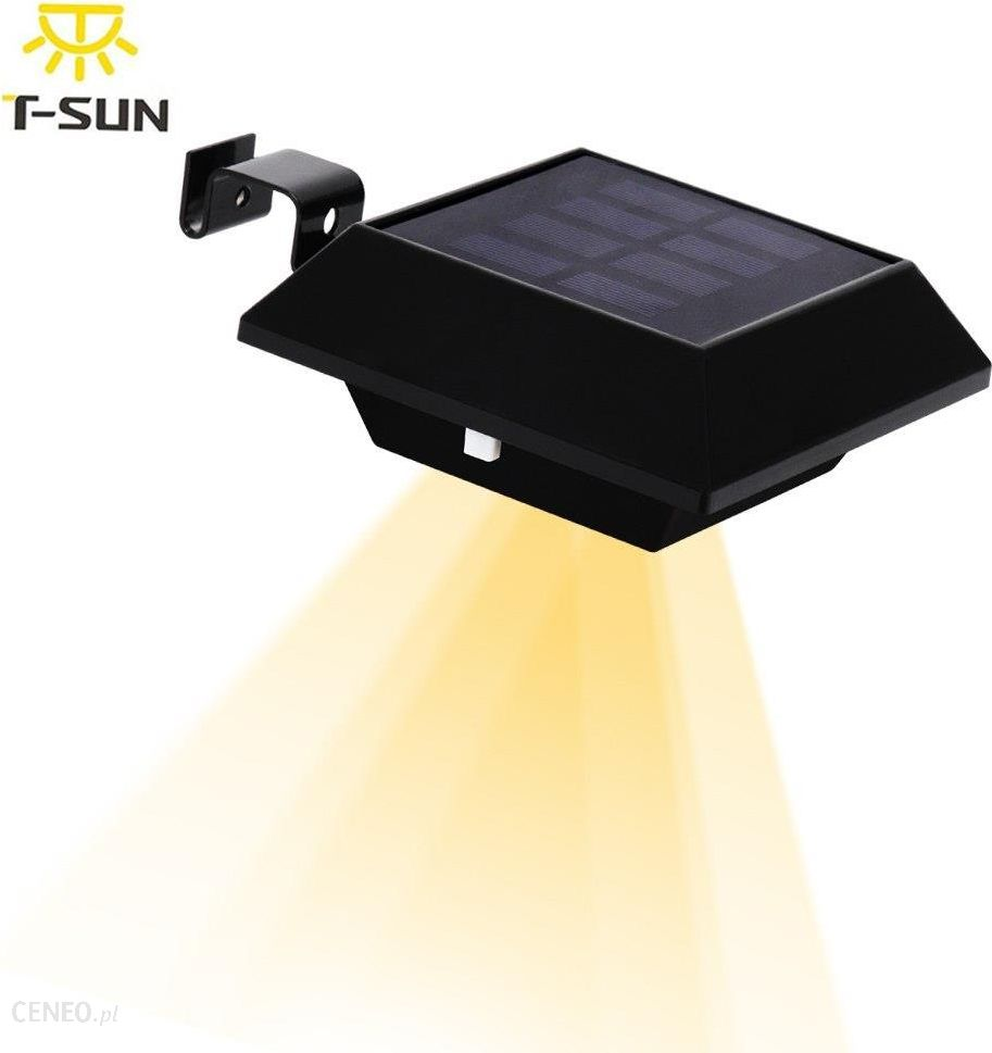 Aliexpress T Sunrise 12 Led Solar Lampy Ogrodowe Rynny światła Z Panelu Słonecznego Doprowadziły światła Uliczne światła Słonecznego Okap Lampy Na Zew