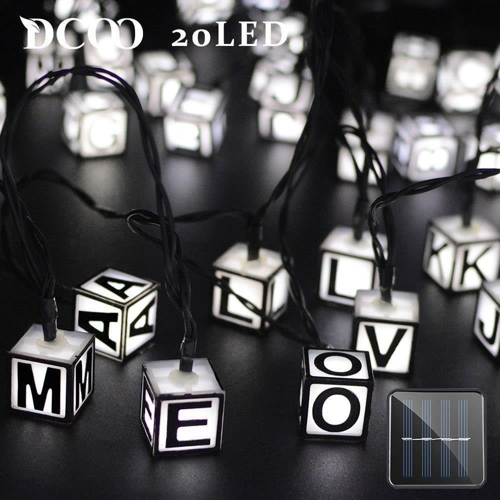 Aliexpress Dcoo Solar Led Litery Lampy światła 155ft 8 Trybów 20