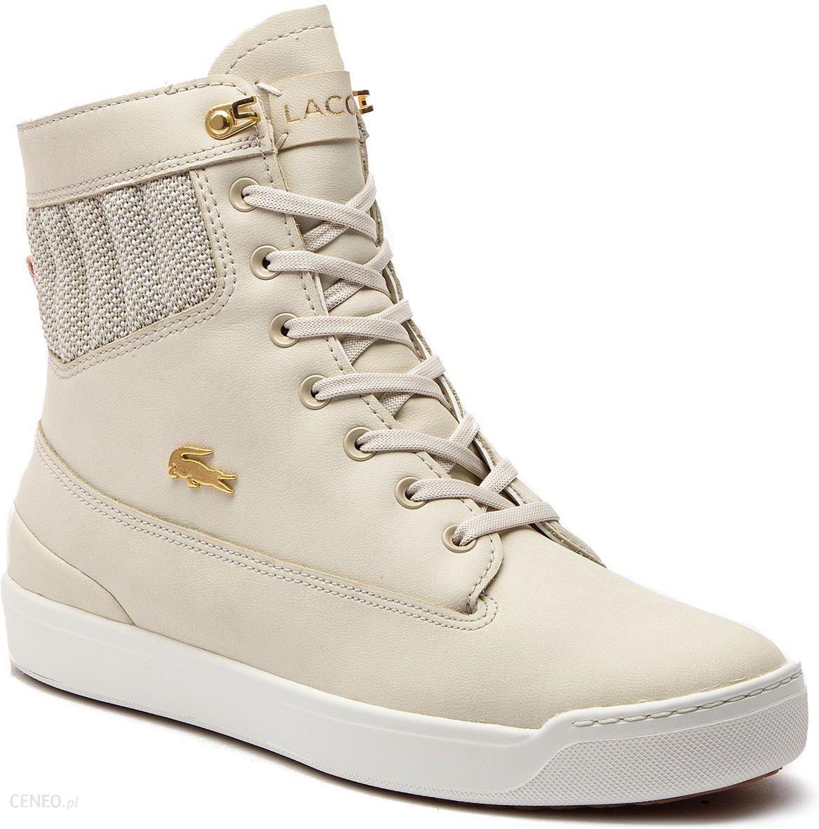 Sneakersy LACOSTE Explorateur Hi 318 1 Caw 7 36CAW0007TS2 NatOff Wht Ceny i opinie Ceneo.pl