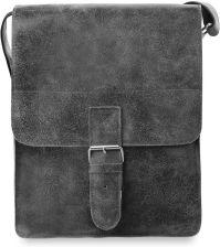 Męska torba na ramię listonoszka retro skóra naturalna - popielaty ... d52804a5d7