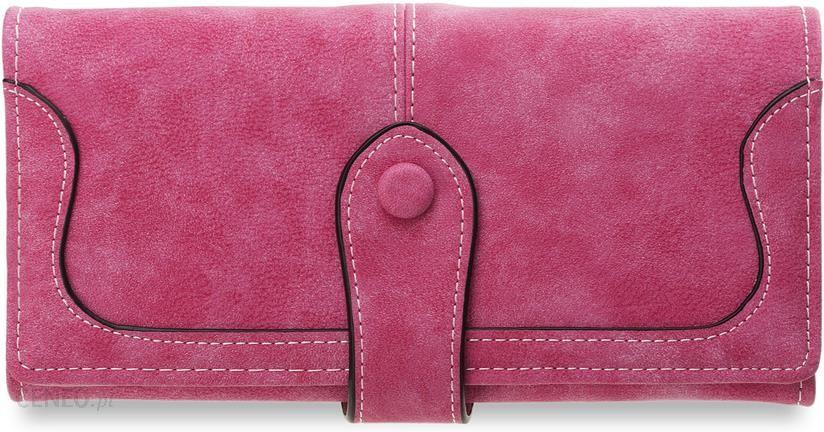 13e0eb1c7a39a Duży portfel damski praktyczny elegancki gustowne zapięcie - różowy -  zdjęcie 1