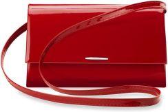 745ec91a9d794 Szykowna kopertówka damska listonoszka na ramię usztywniane dno -  lakierowana czerwona