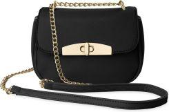 11f6e42616dab Mała listonoszka śliczna torebka damska na łańcuszku - czarny