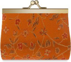 8ec651d49a216 Portmonetka damska retro portfelik na bigiel – pomarańczowy