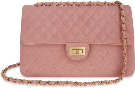 710c0a7405407 Modne włoskie listonoszki - Barberini s - Różowy pudrowy - Ceny i ...