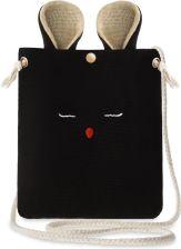 7754756a196b4 Urocza listonoszka płócienna torebka damska myszka z uszkami – czarny
