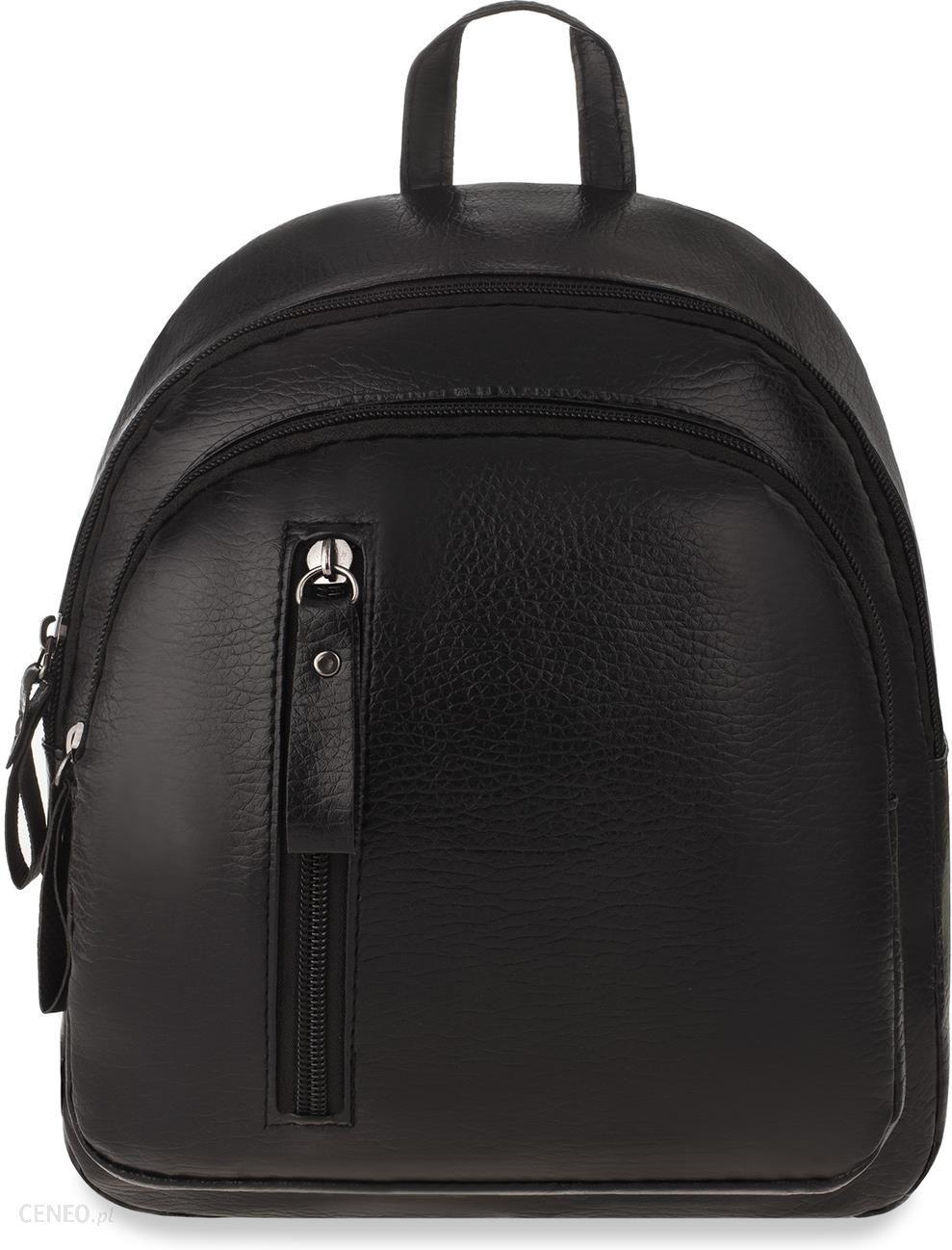 e4321f205046b Mały plecak damski miejski plecaczek jedno i dwuramienny – czarny - zdjęcie  1