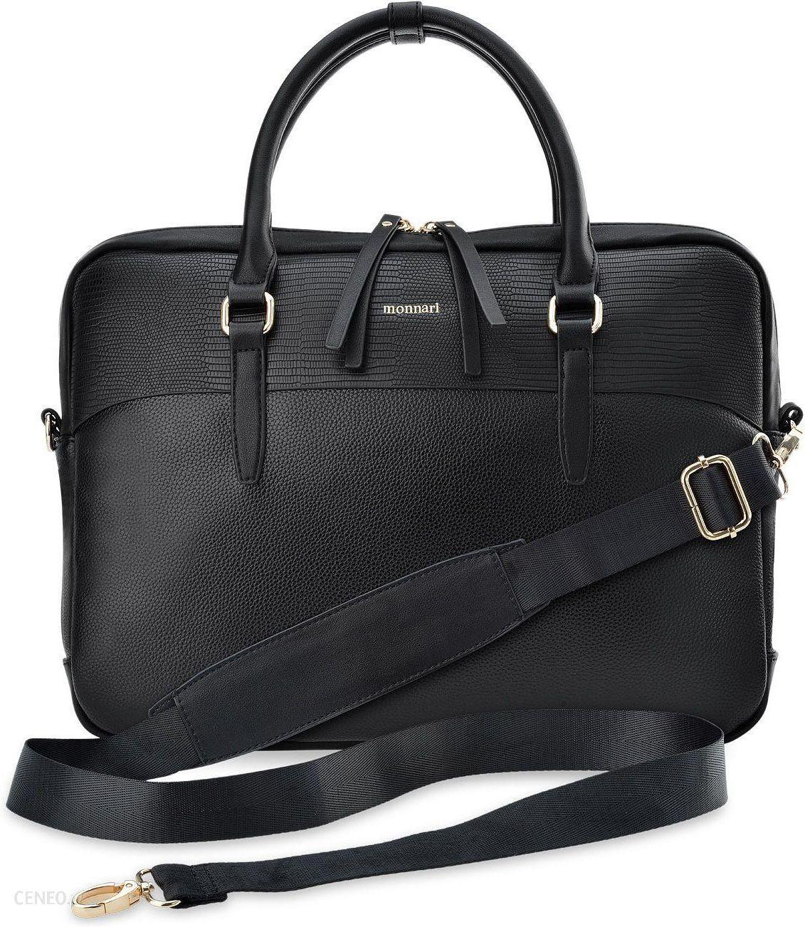 fe3651efe05a4 Stylowa torba na laptopa monnari teczka aktówka - czarny - Ceny i ...