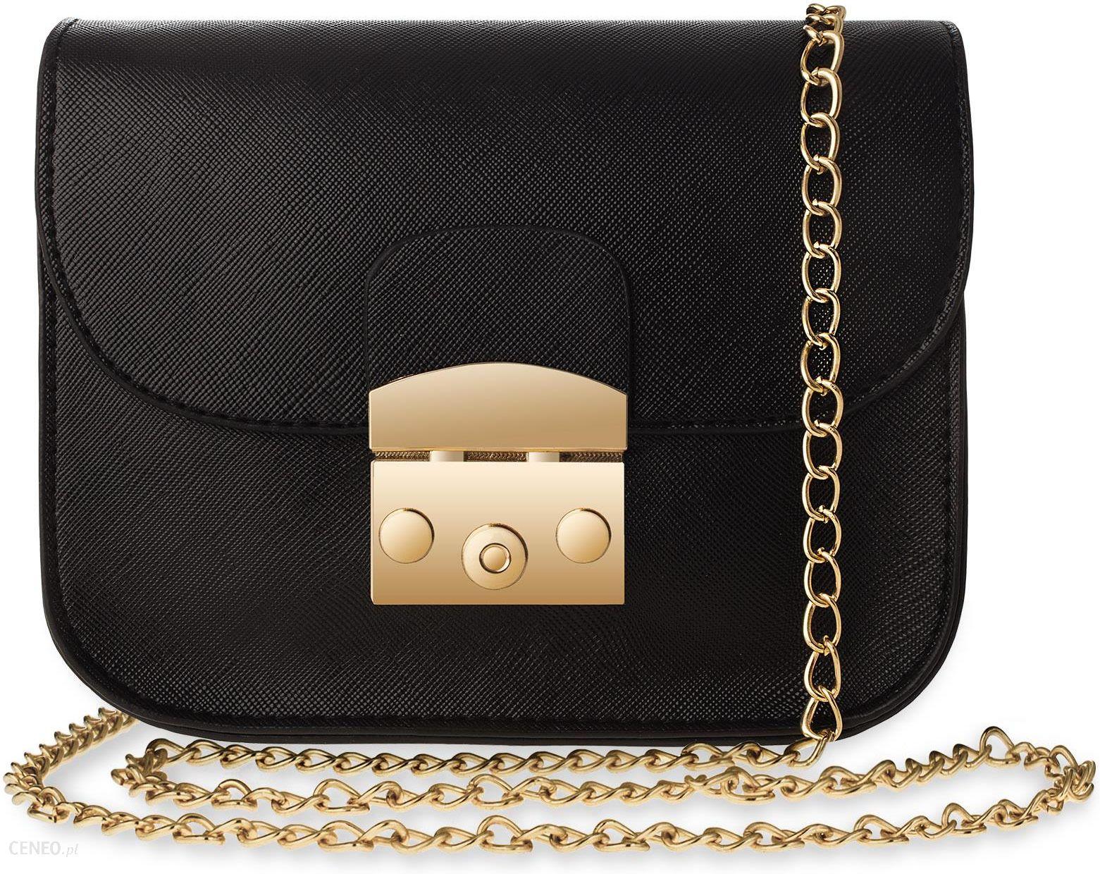 5077f490f2666 Elegancka klasyczna listonoszka sztywna torebka damska chanelka na  łańcuszku - czarny - zdjęcie 1