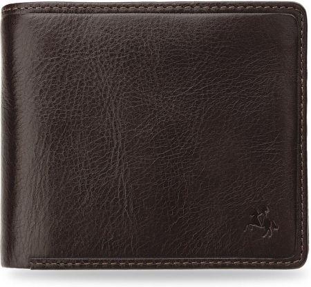 64ee316b56a87 Praktyczny portfel męski visconti elegancka skóra technologia rfid - brązowy
