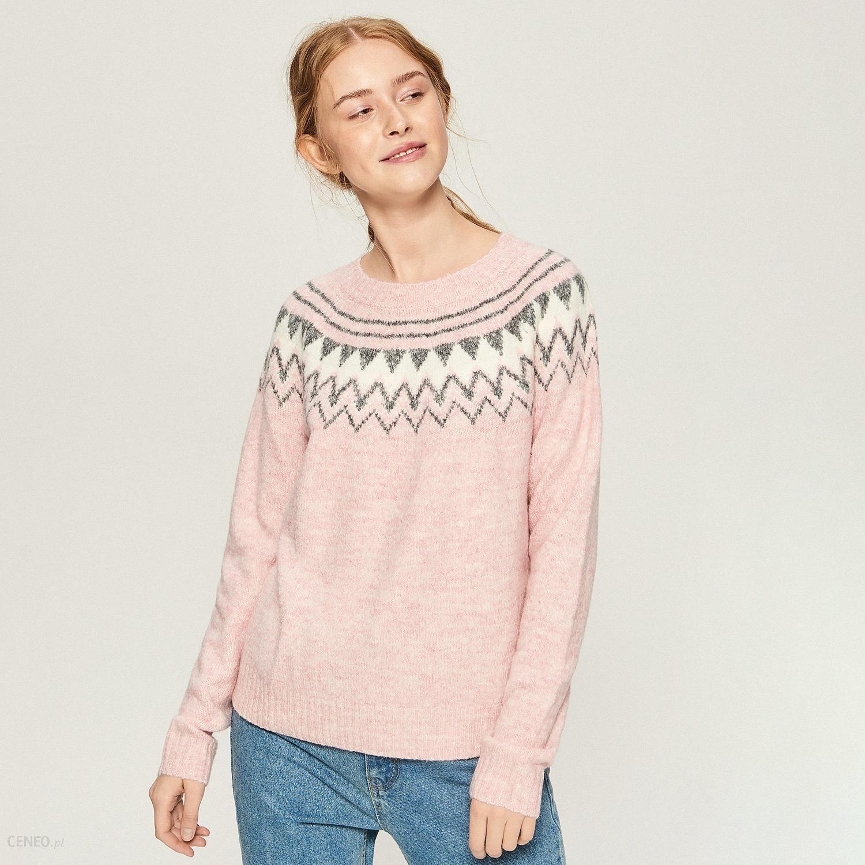 bbd55c8318280a Sinsay - Sweter z geometrycznym wzorem - Różowy - Ceny i opinie ...