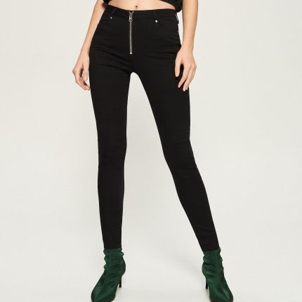 7c6326eaa504 Reserved - Spodnie z paskiem - Beżowy - damski - Ceny i opinie ...