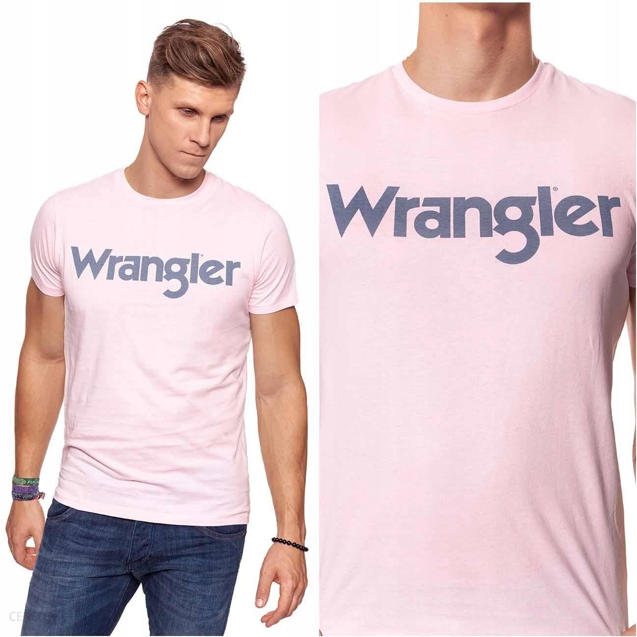 Wrangler Tee T shirt Koszulka Męska Różowa L Ceny i opinie Ceneo.pl