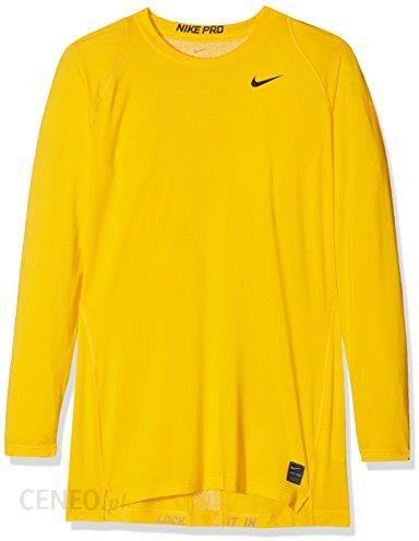 Amazon Nike męskie M NK Pro TOP Compression LS Crew koszulka funkcyjna z długim rękawem, żółty, xxl Ceneo.pl