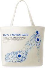 5ae30bf8d10be Torebka damska eko torba na zakupy kolory printy - niebieska szpilka