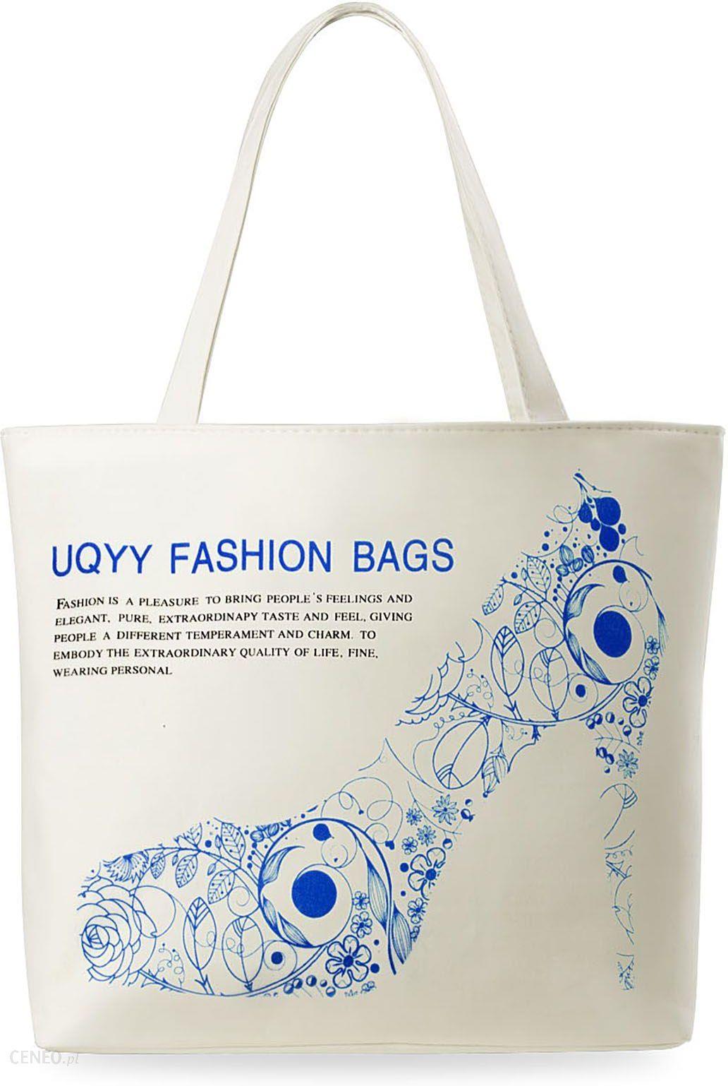 ee08299512e7b Torebka damska eko torba na zakupy kolory printy - niebieska szpilka -  zdjęcie 1