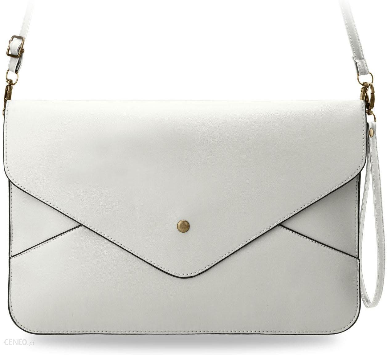 672ccd13f017a Duża torebka damska kopertówka do ręki na ramię nadgarstek - biały -  zdjęcie 1
