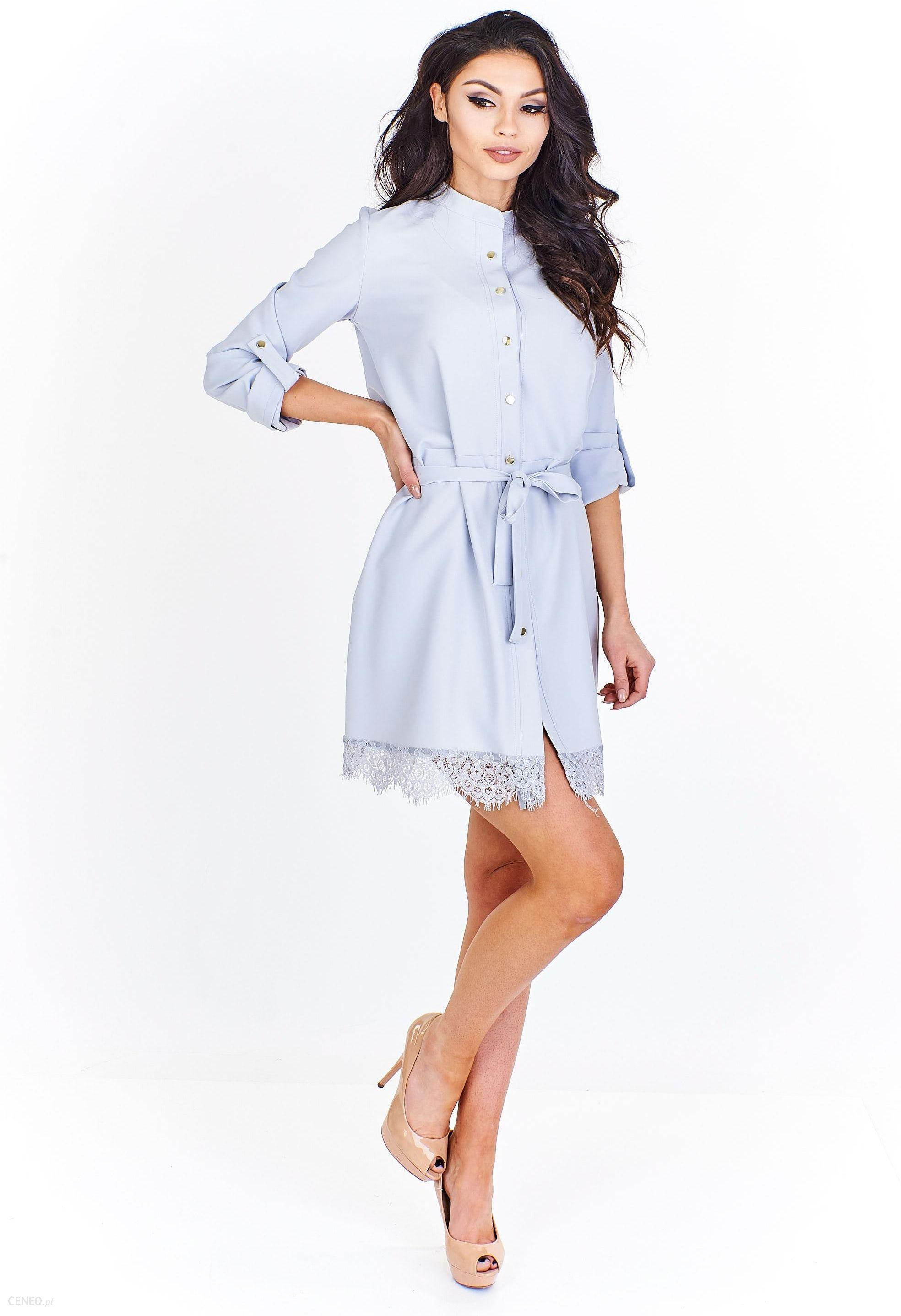 81669b7339 Sukienka typu szmizjerka z koronkowym wykończeniem - Ceny i opinie ...