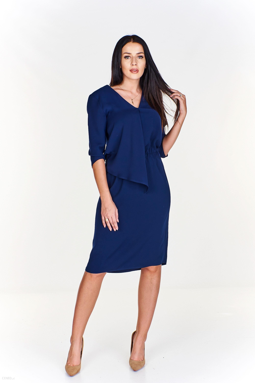 2b6005e076 Elegancka sukienka z doszyciem - Ceny i opinie - Ceneo.pl