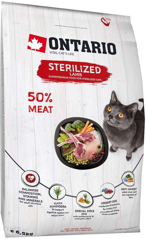 Ontario Sterilised Z Jagnięciną 6,5kg