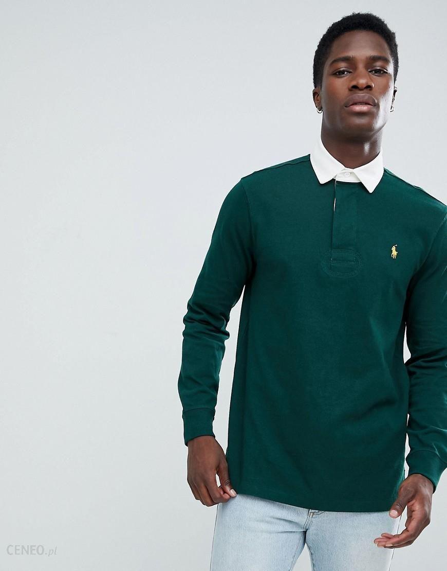 42e75dee449 Polo Ralph Lauren long sleeve rugby polo player logo in green - Green - zdjęcie  1