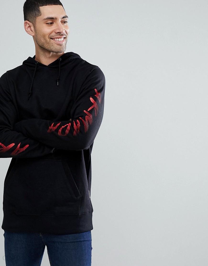 buy online 83241 591ce Armada Sleeve Logo Hoodie in Black - Black - zdjęcie 1