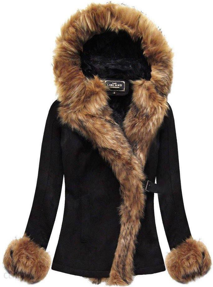 damska zimowa kurtka zamszowa