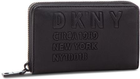 cb6f1d0add0cd Duży Portfel Damski DKNY - Md Zip Around R832Z636 Blk Black BBL eobuwie