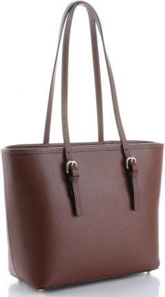 a491eaf99416c Klasyczne Torebki Skórzane na każdą okazję firmy Genuine Leather długie  rączki Brązowe (kolory) ...