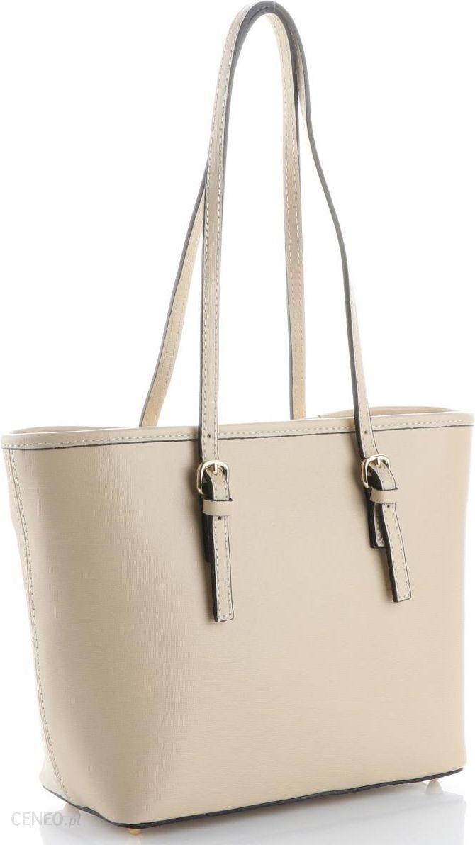 4735e83202d0f Eleganckie i Klasyczne Włoskie Torebki Skórzane marki Genuine Leather  Beżowe (kolory) - zdjęcie 1