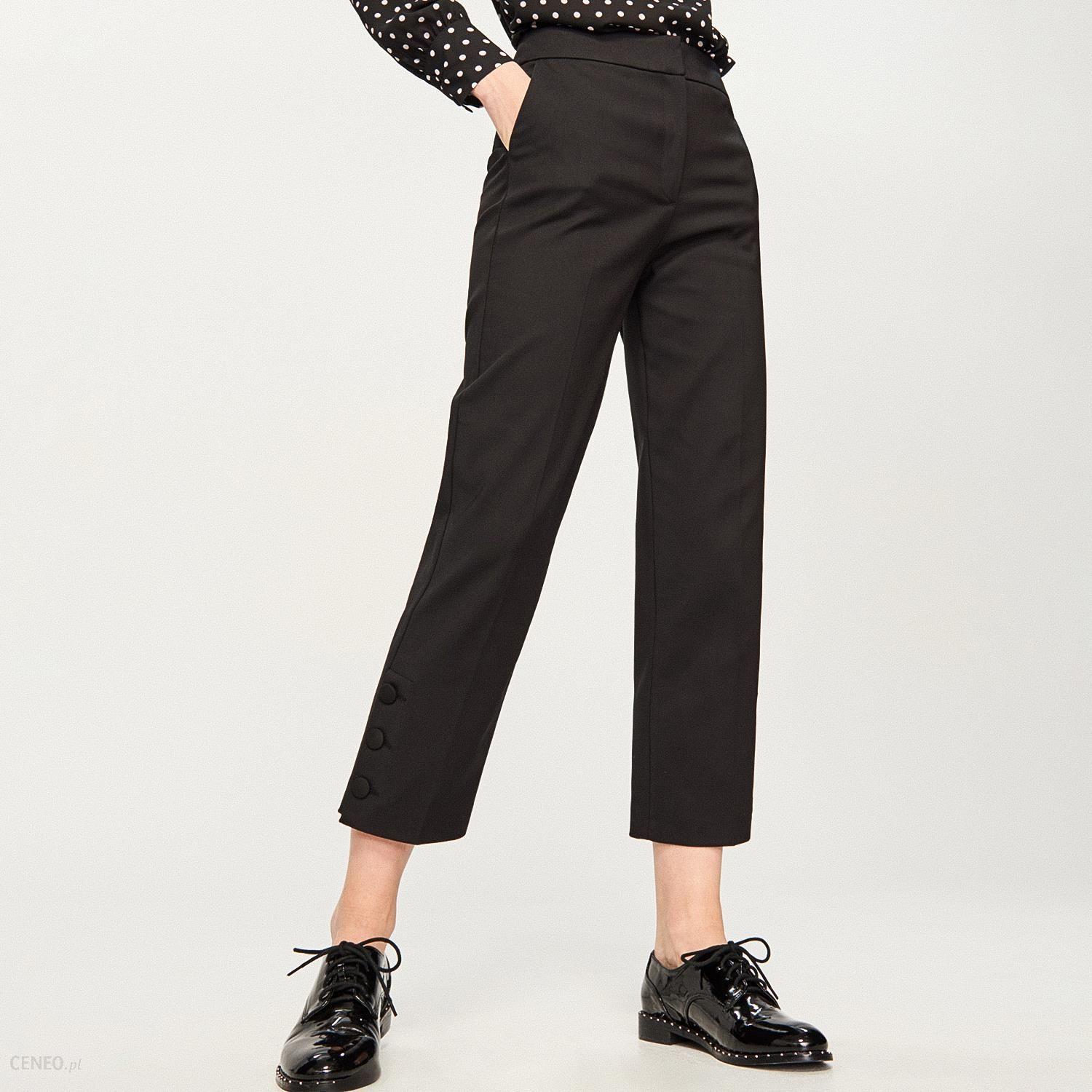 33a2386f62ba Reserved - Spodnie z podwyższonym stanem - Czarny - Ceny i opinie ...