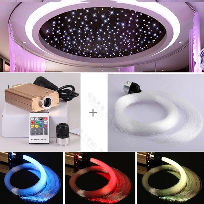 Aliexpress Kolorowe Szkło światłowody Oświetlacz Gwiazda Sky Zestaw Sufitowe Dekoracyjne światła Kij Ceneopl