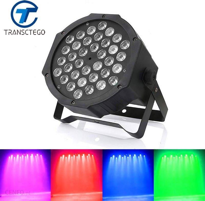 Aliexpress Transctego Dj Led Dmx światła Disco Etap Mieszania Kolorów Par Lampy Aktywowane Głosem Etap 36 Led Barwienia Kontrola Dźwięku Ktv